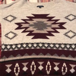 Loose for Aztec sweater